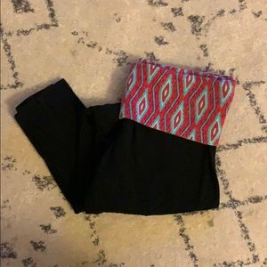 Mossimo Supply Co Black Cotton Leggings Size Small